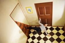 横倒しの部屋 トリックアート