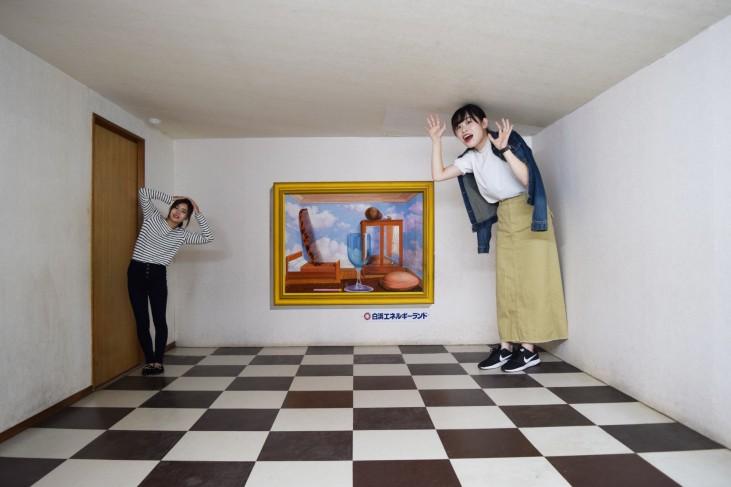トリックアート エイムズの部屋