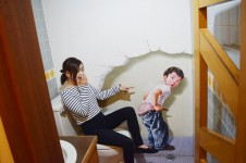 トリックアート トイレ
