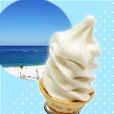 まっ白浜なバニラソフトクリーム