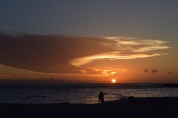 白良浜 夕焼け