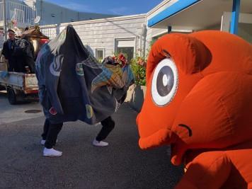 山神社 獅子舞 エネゴン