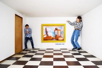 トリックアートハウス エイムズの部屋