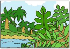シダ植 物が大森林をつくっていた様子